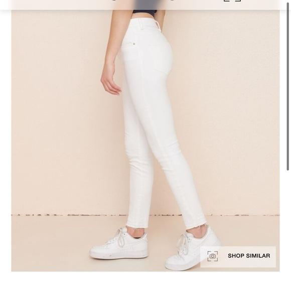 Garage Highrise White Skinny Jean